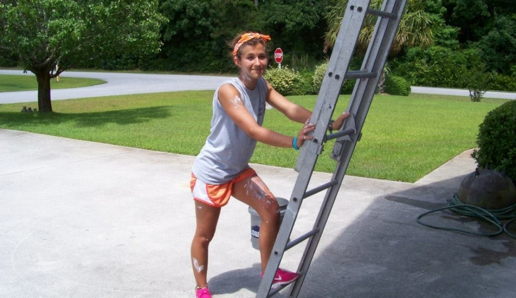 rachael with ladder